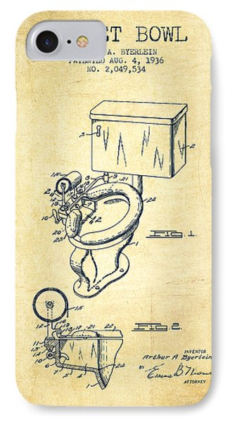 Toilet Bowl Patent From 1936 - Vintage IPhone Case