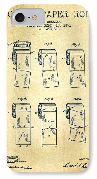 Toilet Paper Roll Patent From 1891 - Vintage IPhone Case