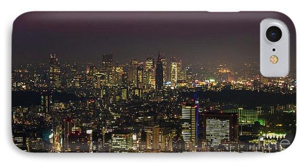 Tokyo City Skyline IPhone 7 Case by Fototrav Print