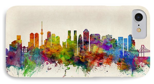 Tokyo Japan Skyline IPhone Case by Michael Tompsett