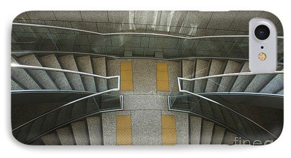 Tokyo Metropolitan Stairs IPhone Case by David Bearden