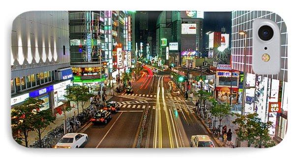 Tokyo Neon Streaks IPhone Case by Jonah  Anderson