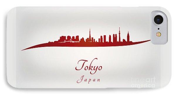 Tokyo Skyline In Red IPhone 7 Case