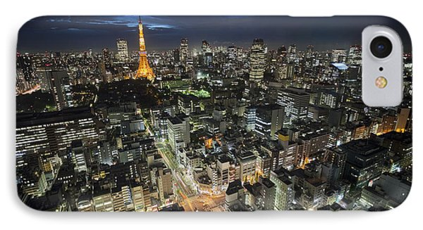Tokyo Tower At Night IPhone Case