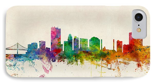 Toledo Ohio Skyline IPhone Case by Michael Tompsett