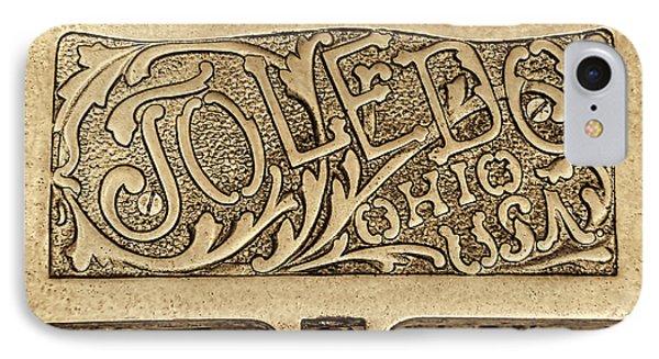 Toledo Ohio Usa Art Gold Phone Case by LeeAnn McLaneGoetz McLaneGoetzStudioLLCcom