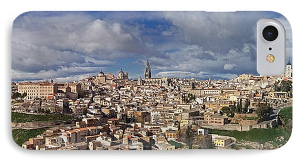 Toledo Old Town Panorama Phone Case by Rudi Prott