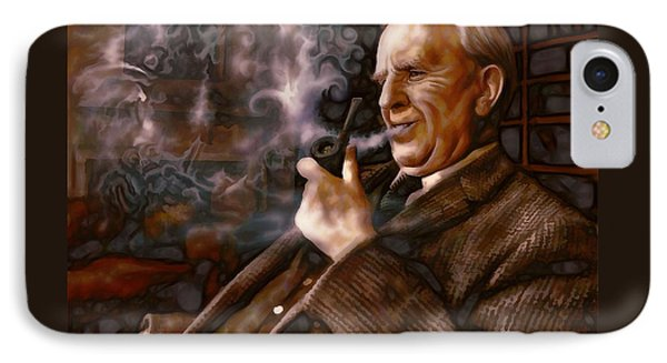 IPhone Case featuring the painting Tolkien Daydreams by Dave Luebbert