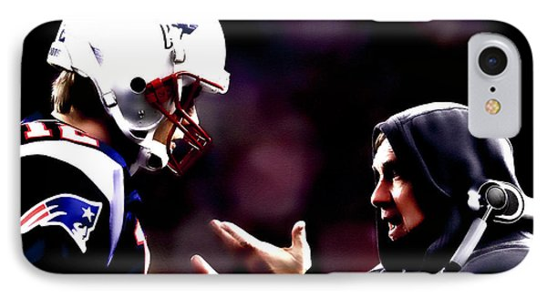 Tom Brady And Coach IPhone Case by Brian Reaves