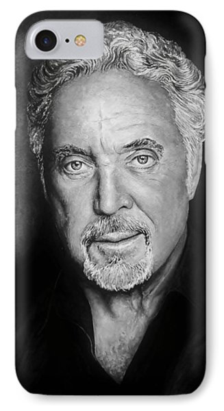 Tom Jones The Voice Bw Phone Case by Andrew Read