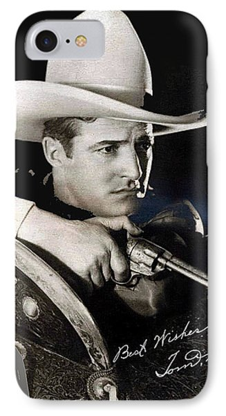 Tom Mix Portrait Melbourne Spurr Hollywood California C.1925-2013 Phone Case by David Lee Guss