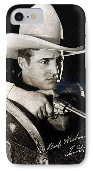 Tom Mix Portrait Melbourne Spurr Hollywood California C.1925-2013 IPhone Case by David Lee Guss