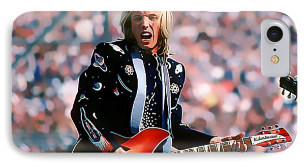 Tom Petty At Live Aid In Philadelphia IPhone Case by Wernher Krutein