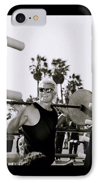Tom Platz In Los Angeles IPhone Case by Shaun Higson
