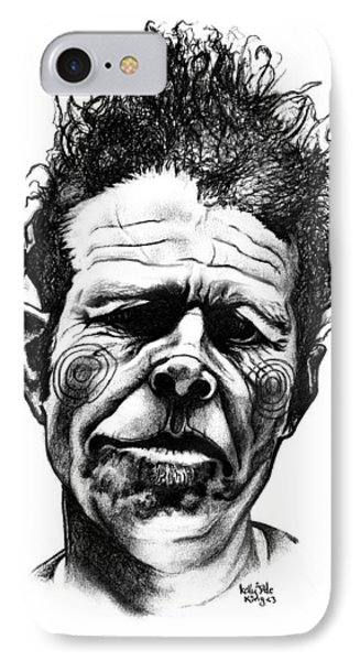 Tom Waits IPhone Case by Kelly Jade King