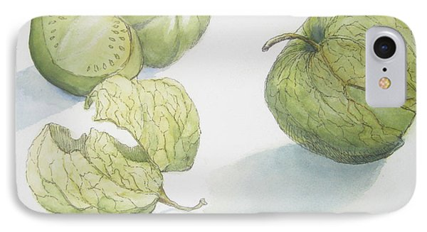 Tomatillos Phone Case by Maria Hunt