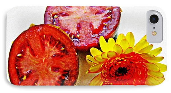 Tomato And Daisy 2 Phone Case by Sarah Loft