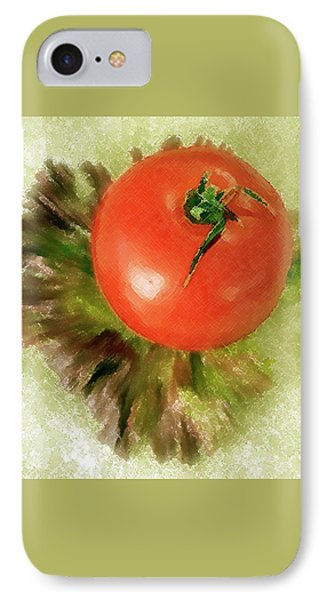Tomato And Lettuce Phone Case by Ben and Raisa Gertsberg