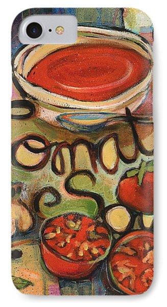 Tomato Soup Recipe Phone Case by Jen Norton