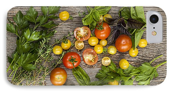 Tomatoes And Herbs IPhone Case by Elena Elisseeva