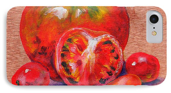 Tomatoes Phone Case by Judy Bruning
