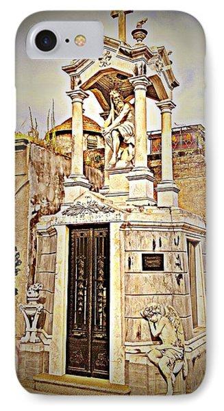 Tomb In Recoleta Cemetary Buenos Aries IPhone Case by John Potts