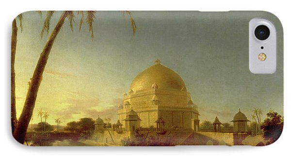 Tomb Of Sher Shah, Sasaram, Bihar Signed In Black Paint IPhone Case by Litz Collection