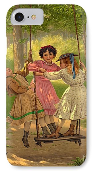 Tomboys 1868 IPhone Case by Padre Art