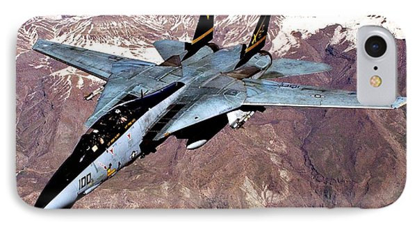 Tomcat Over Iraq IPhone Case by Benjamin Yeager