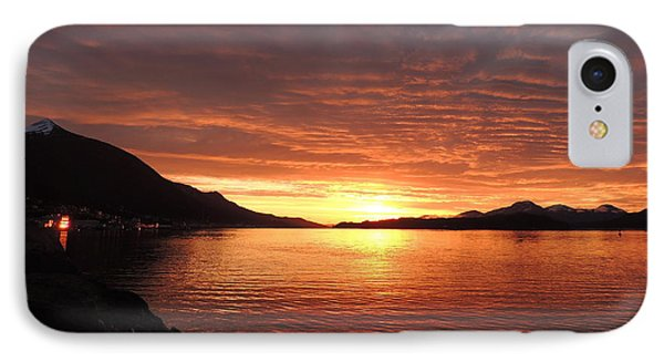 Tongass Narrows Sunrise On 12/12/12 IPhone Case by Karen Horn