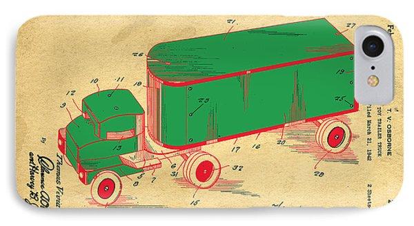 Tonka Truck Patent IPhone Case by Edward Fielding