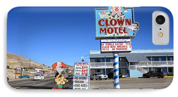 Tonopah Nevada - Clown Motel Phone Case by Frank Romeo