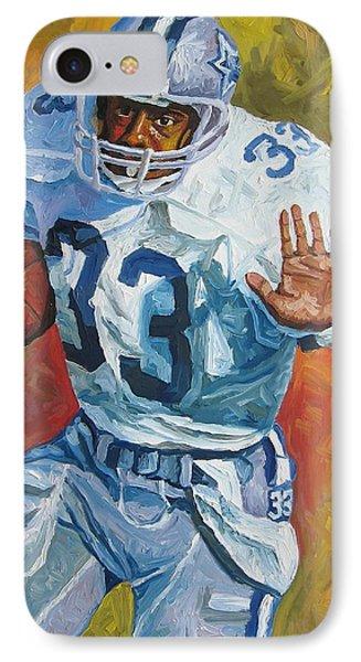 Tony Dorsett - Dallas Cowboys  Phone Case by Mike Rabe