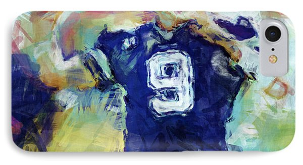 Tony Romo Abstract 1 IPhone Case by David G Paul