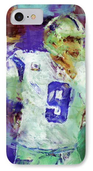 Tony Romo Abstract 2 IPhone Case by David G Paul