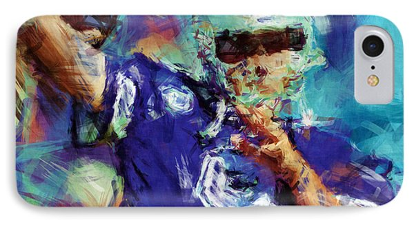 Tony Romo Abstract 3 IPhone Case by David G Paul
