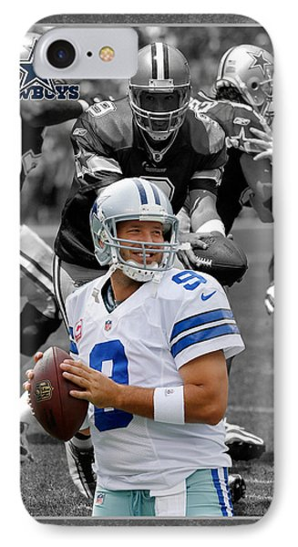 Tony Romo Cowboys IPhone Case by Joe Hamilton