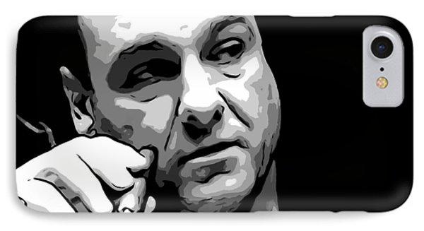 Tony Soprano IPhone Case by Dan Sproul