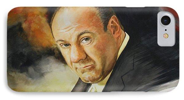 Tony Soprano IPhone Case by Jan Szymczuk