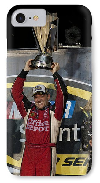 Tony Stewart Cup Champ 3 IPhone Case by Kevin Cable