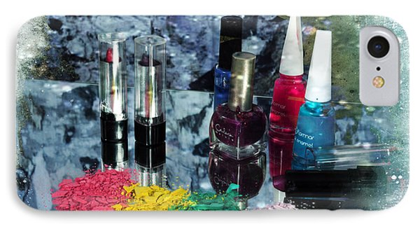 Too Much Makeup IPhone Case by Randi Grace Nilsberg