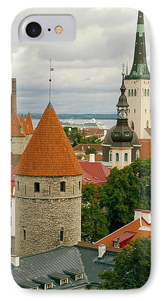Toompea View, Old Town, Tallinn, Estonia IPhone Case by Panoramic Images