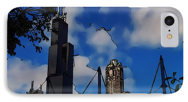 Toon Chicago IPhone Case by Chris Flees