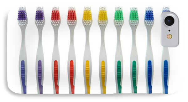 Toothbrushes IPhone Case by Olivier Le Queinec