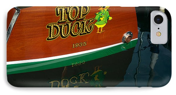 IPhone Case featuring the photograph Top Duck At Tahoe's Wooden Boat Festival  by Vinnie Oakes