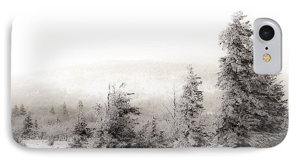 Top Of Canaan In Winter IPhone Case by Shane Holsclaw