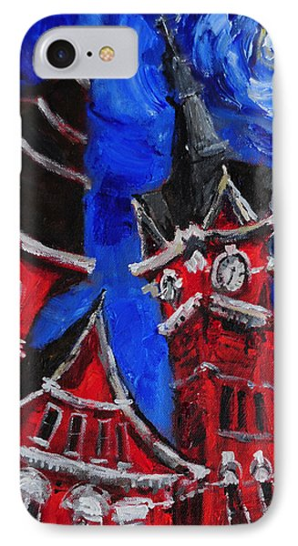 Top Of Samford Hall IPhone Case by Carole Foret
