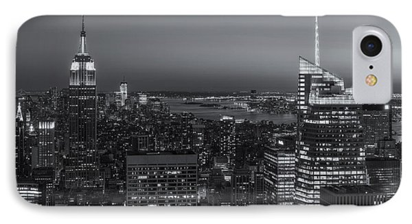 Top Of The Rock Twilight V Phone Case by Clarence Holmes