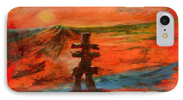 IPhone Case featuring the painting Top Of The World by Sher Nasser