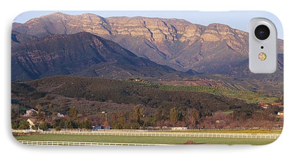 Topa Topa Bluffs Overlooking Ranches IPhone Case by Panoramic Images